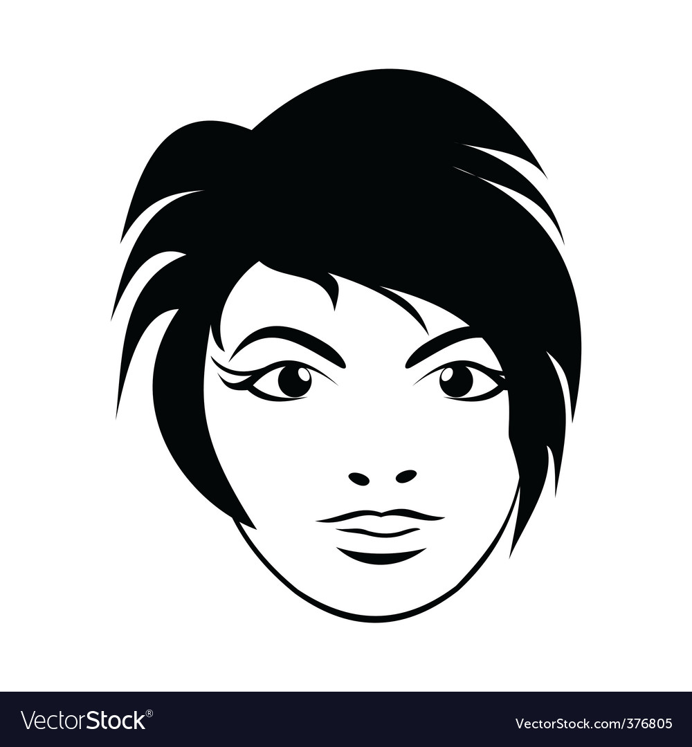 Girl face close up vector | Price: 1 Credit (USD $1)