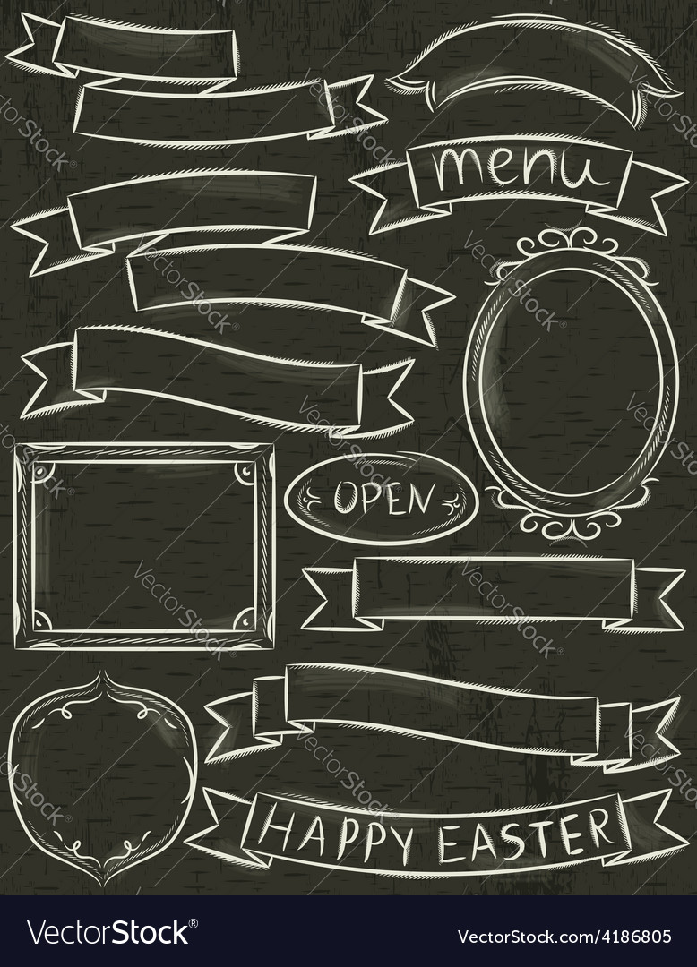 Hand painted decorative borders frames banner vector   Price: 1 Credit (USD $1)