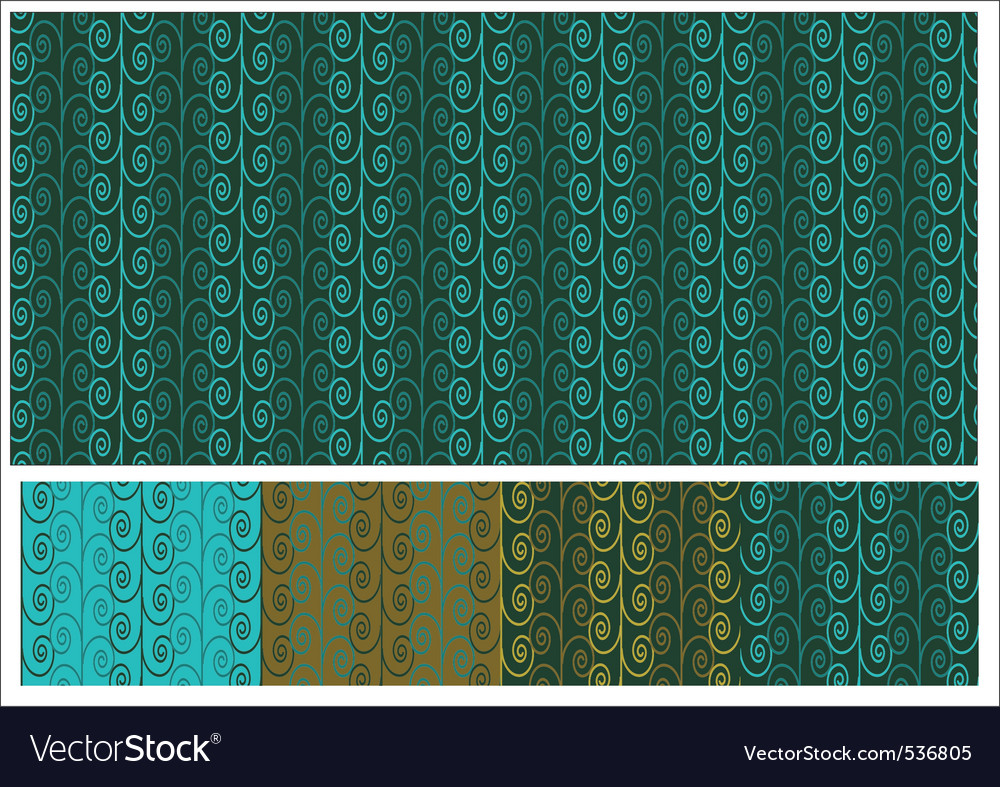 Seamless abstract background with curls in several vector | Price: 1 Credit (USD $1)