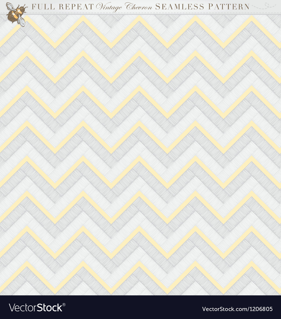 Vintage full repeat seamless chevron pattern vector | Price: 1 Credit (USD $1)