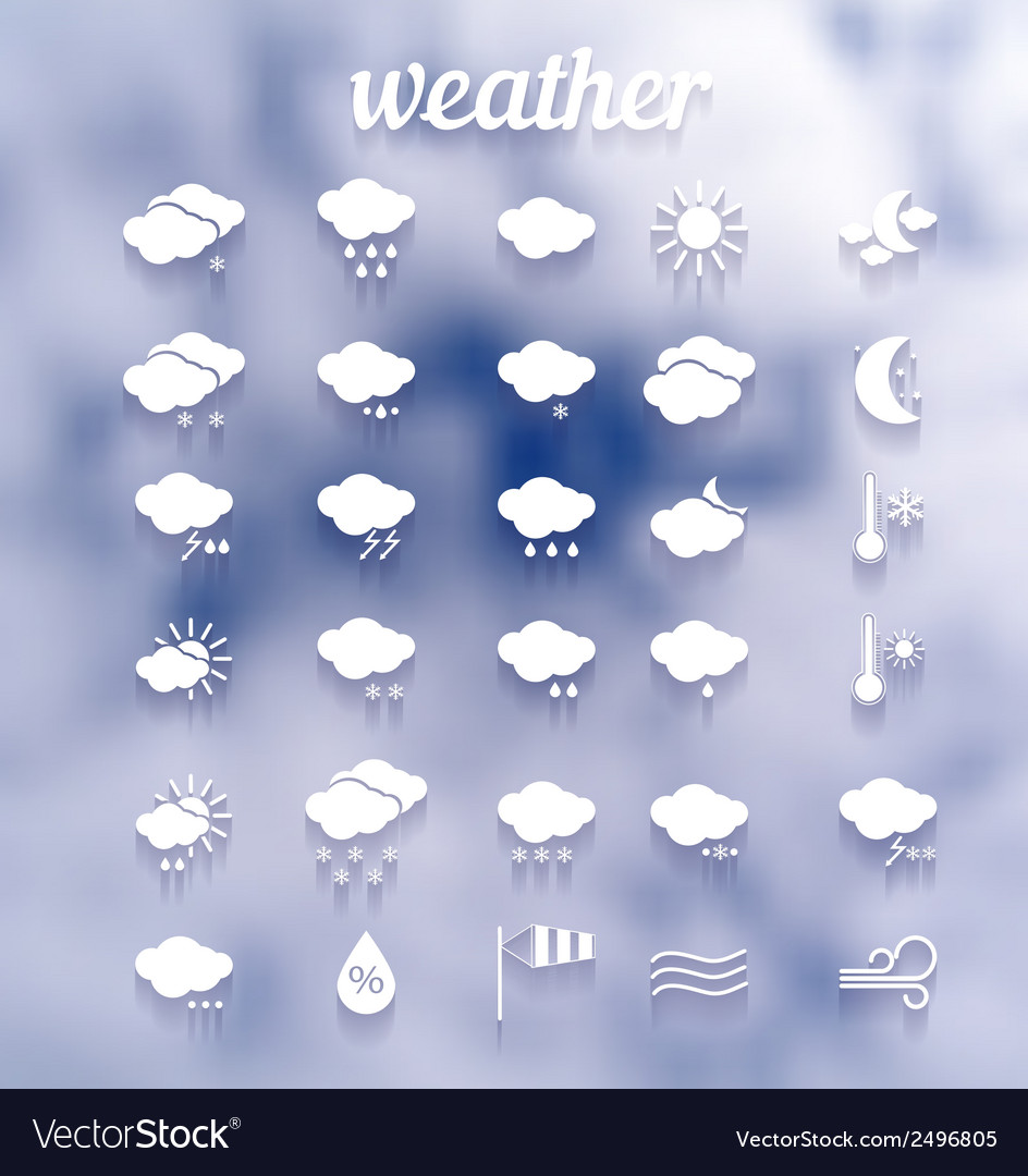 Weather icon set  eps10 vector | Price: 1 Credit (USD $1)