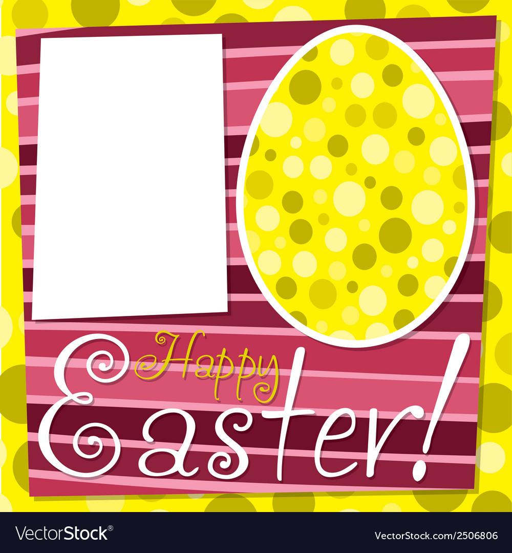 Bright retro happy easter card in format vector | Price: 1 Credit (USD $1)