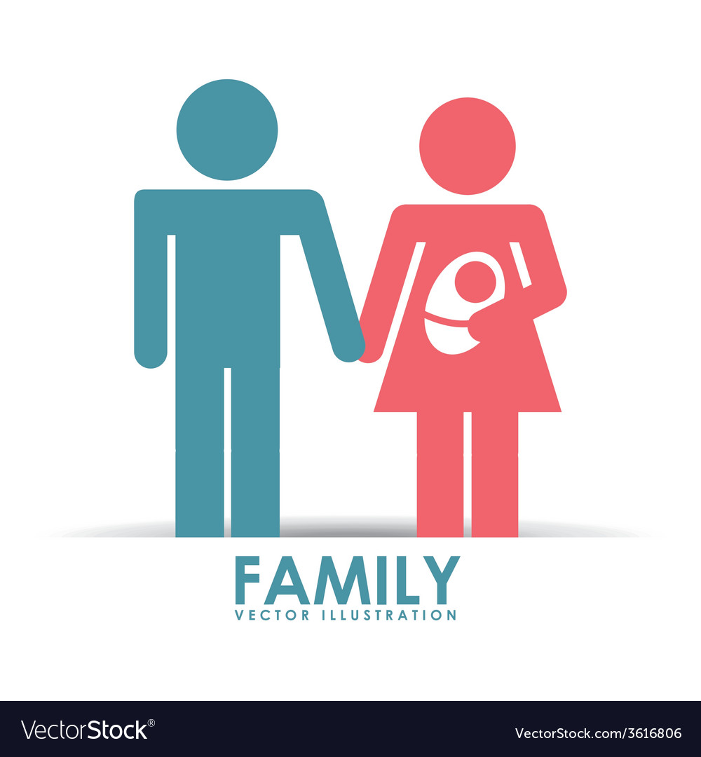 Family happy vector | Price: 1 Credit (USD $1)