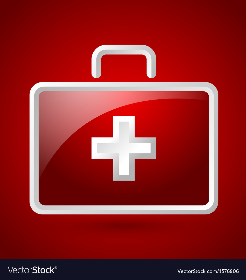 First aid kit icon vector | Price: 1 Credit (USD $1)