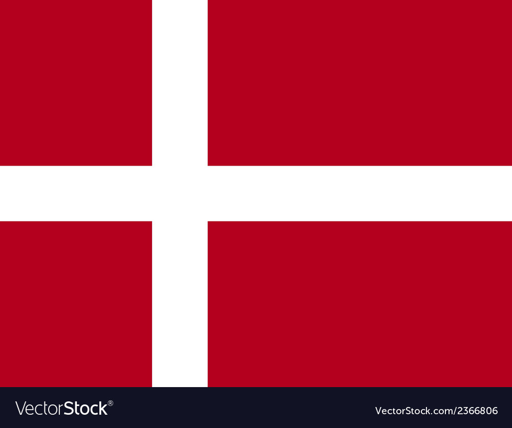 Flag of denmark vector | Price: 1 Credit (USD $1)