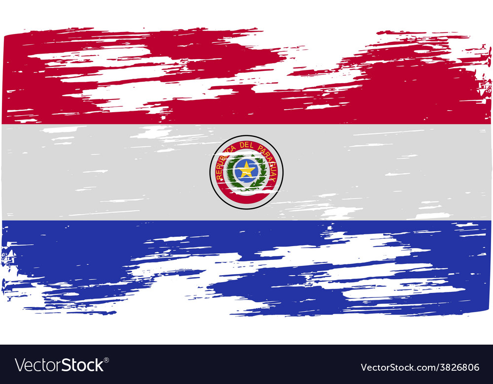 Flag of paraguay with old texture vector | Price: 1 Credit (USD $1)