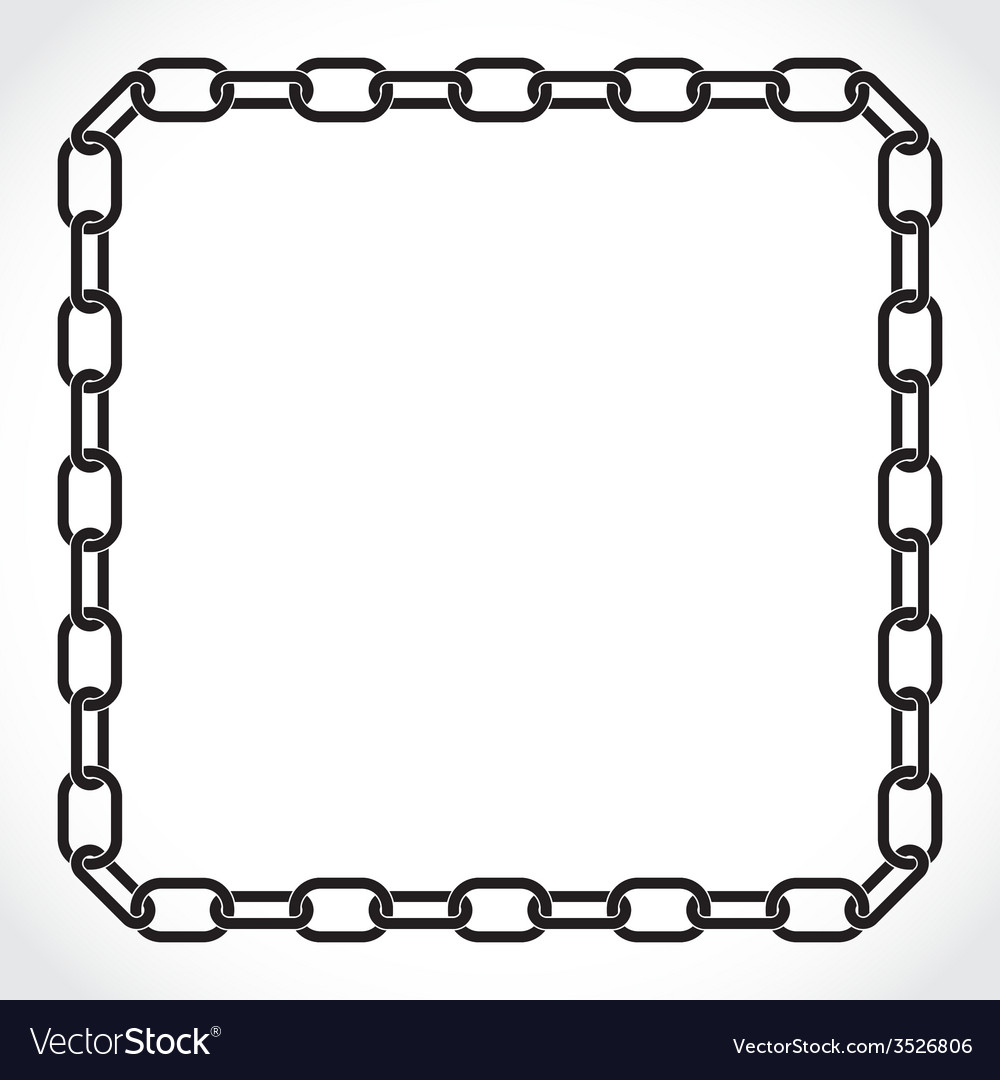 Frame of the chain vector | Price: 1 Credit (USD $1)