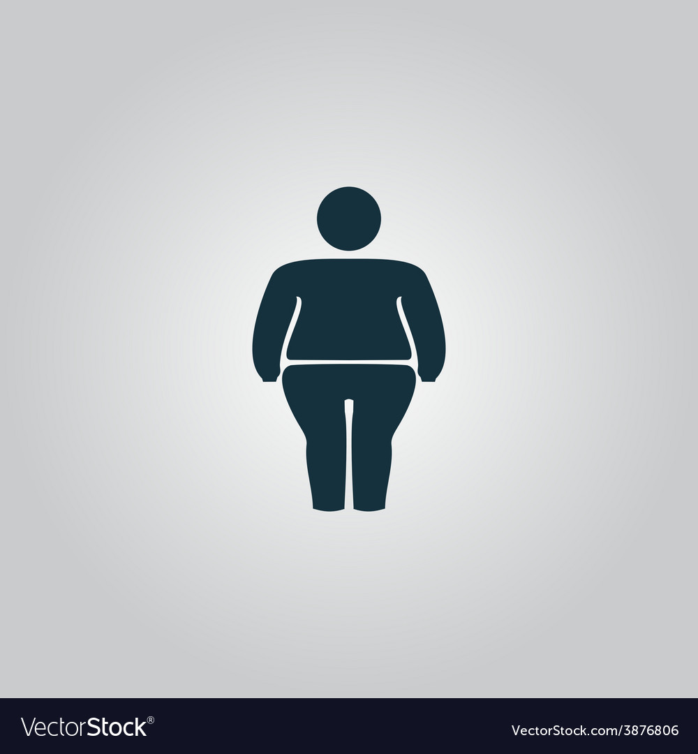 Overweight man symbol vector | Price: 1 Credit (USD $1)