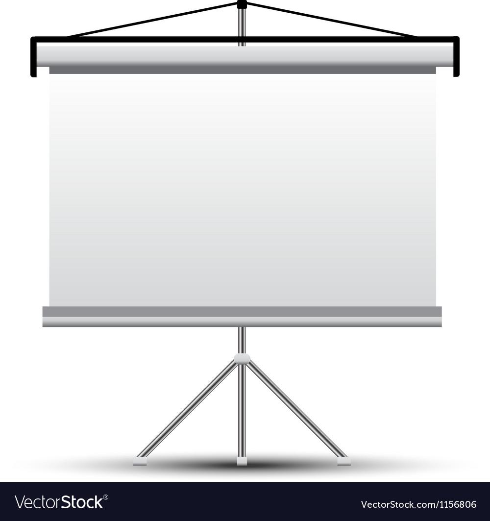 Projector screen vector | Price: 1 Credit (USD $1)