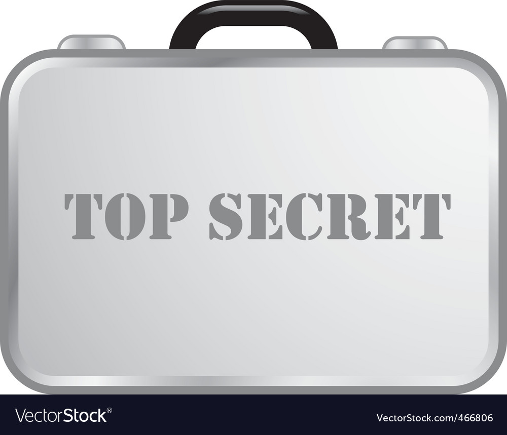Steel briefcase top secret vector | Price: 1 Credit (USD $1)