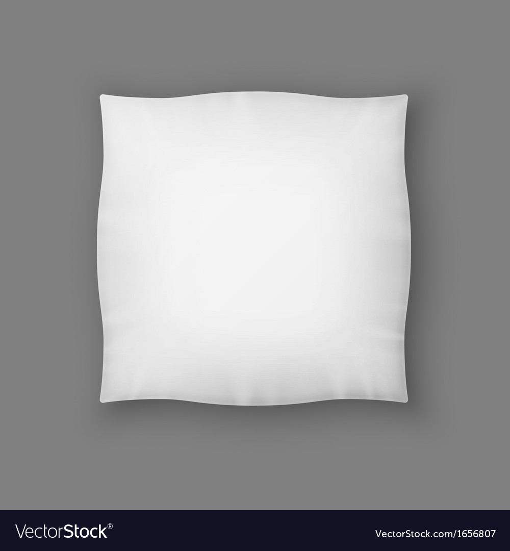 Blank square white pillow vector | Price: 1 Credit (USD $1)