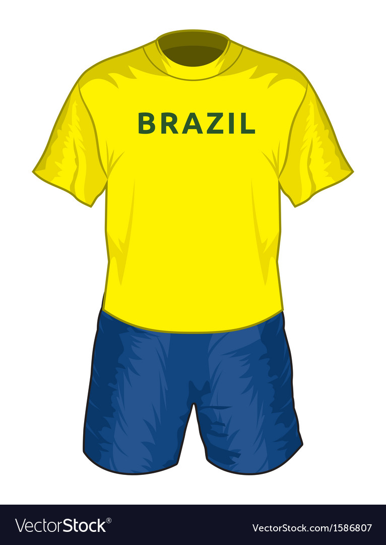 Brazil dres resize vector | Price: 1 Credit (USD $1)