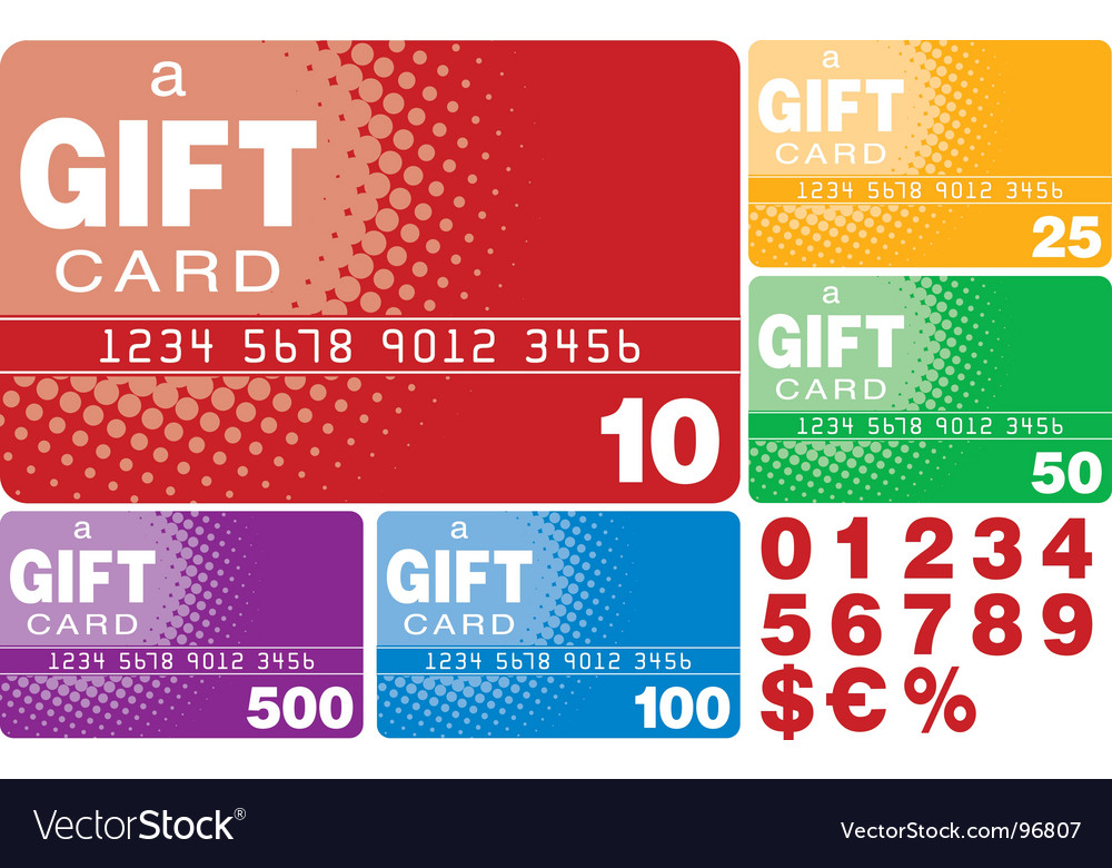 Gift cards vector   Price: 1 Credit (USD $1)
