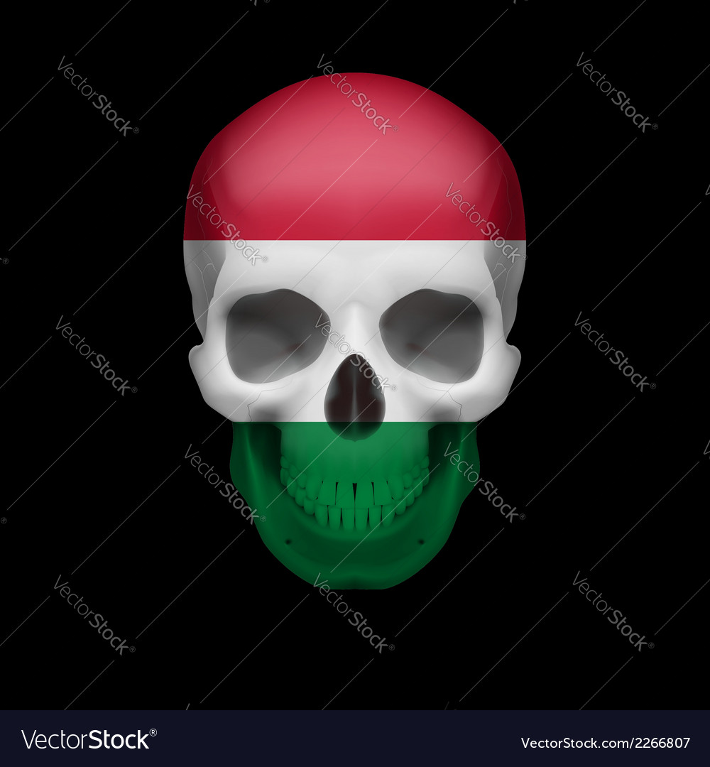 Hungarian flag skull vector | Price: 1 Credit (USD $1)