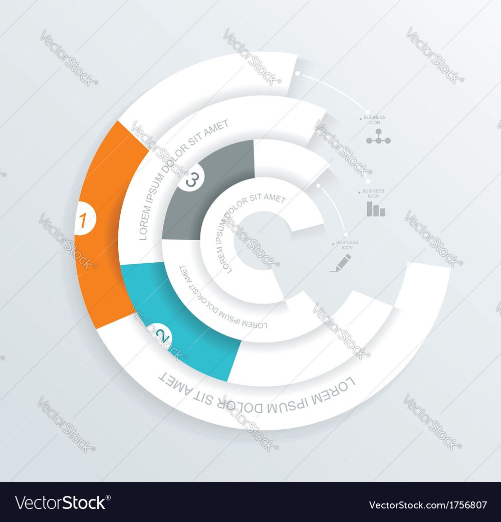 Infographics circle origami style vector | Price: 1 Credit (USD $1)