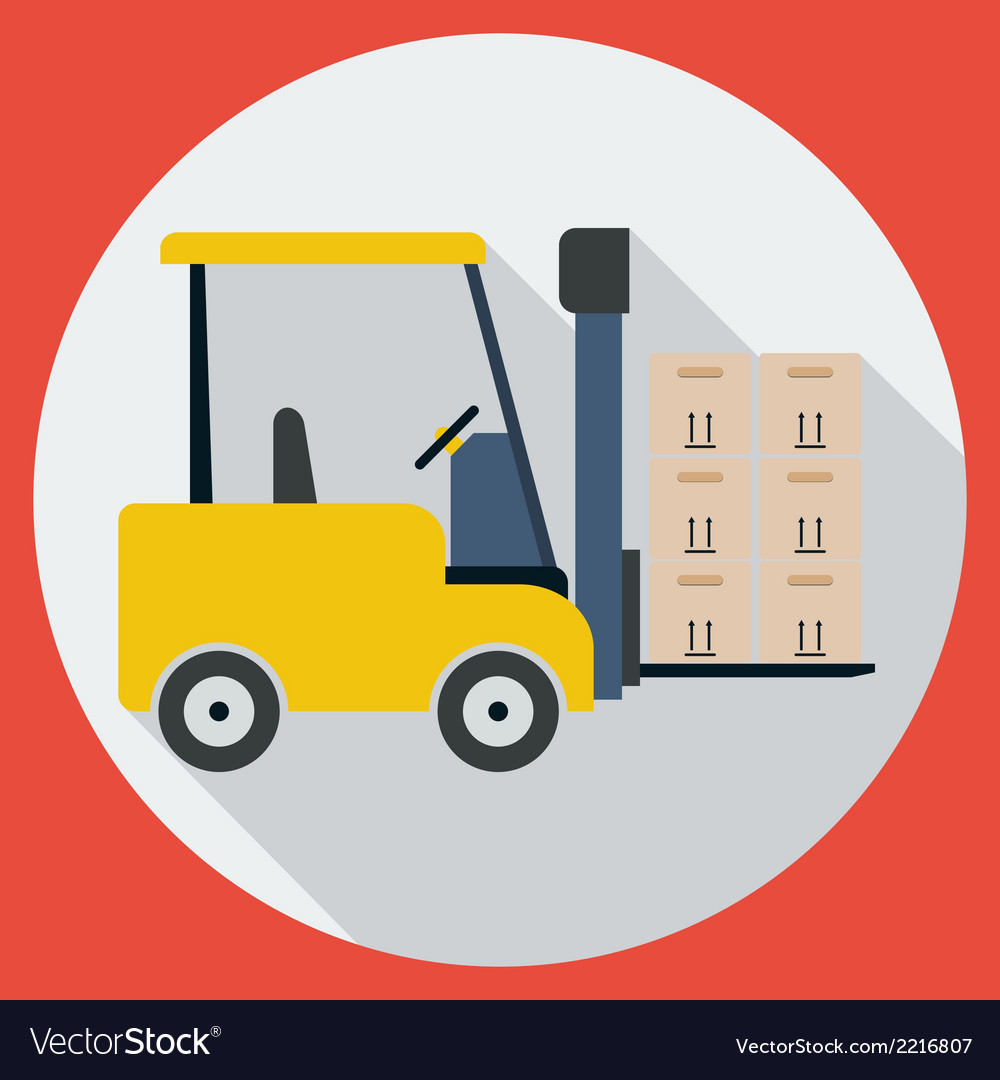 Lift-truck vector | Price: 1 Credit (USD $1)
