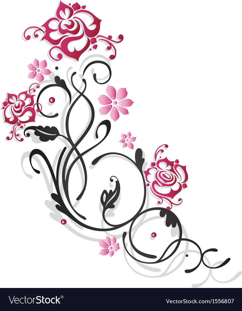 Rose leaf love vector | Price: 1 Credit (USD $1)