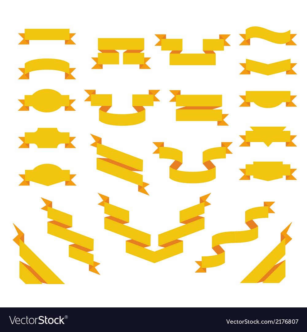 Set of flat ribbons vector | Price: 1 Credit (USD $1)