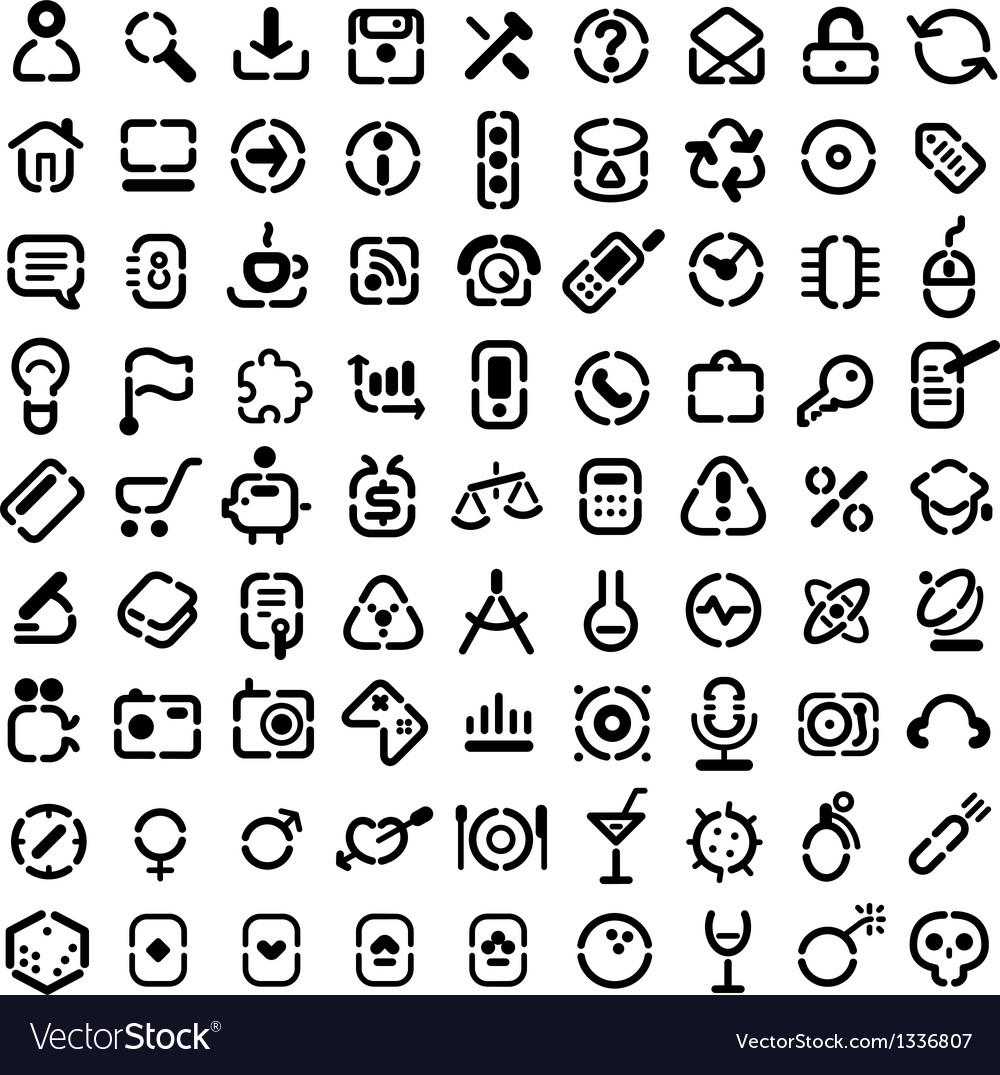 Stencil icons vector | Price: 1 Credit (USD $1)