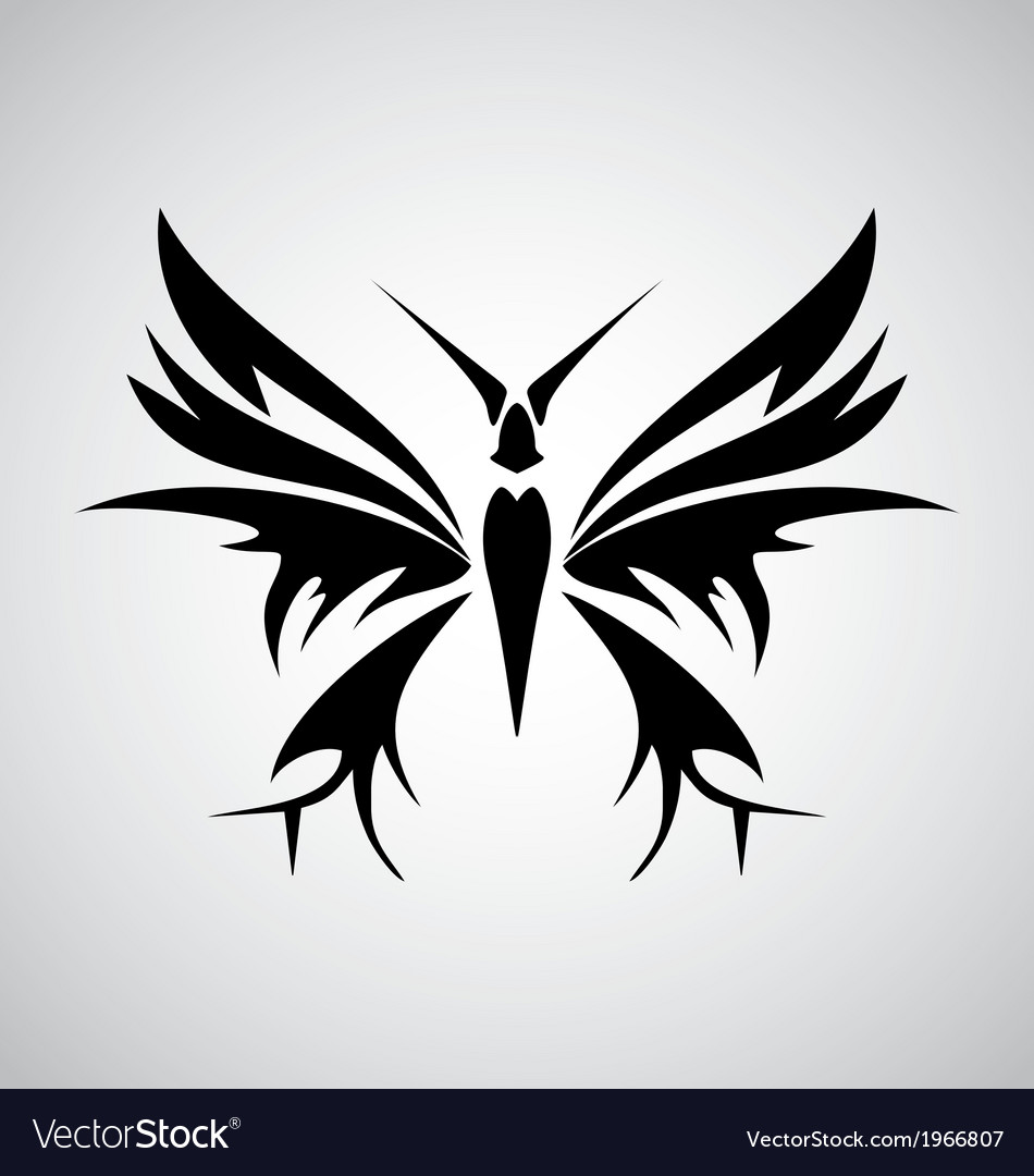 Tribal butterfly tattoo vector | Price: 1 Credit (USD $1)