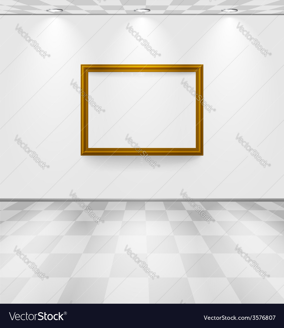 White room with frame vector | Price: 1 Credit (USD $1)