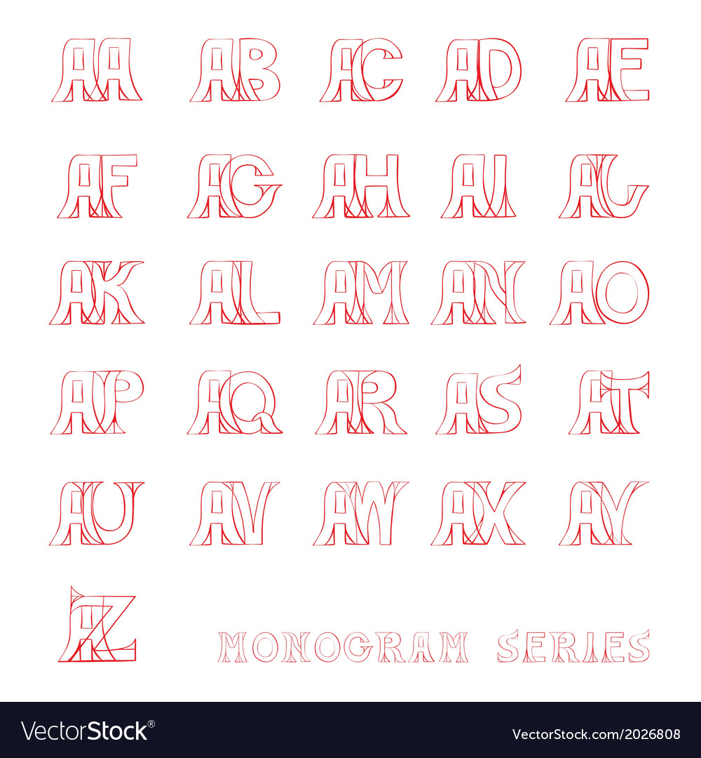 A monogram series vector | Price: 1 Credit (USD $1)