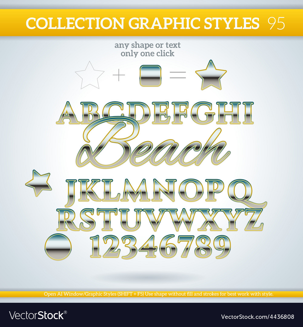 Beach graphic styles for design use for decor text vector | Price: 1 Credit (USD $1)