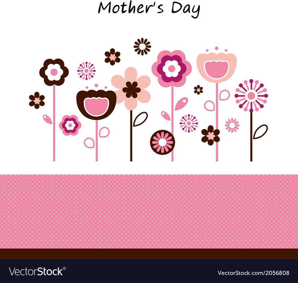 Beautiful flowers for mothers day celebration vector | Price: 1 Credit (USD $1)
