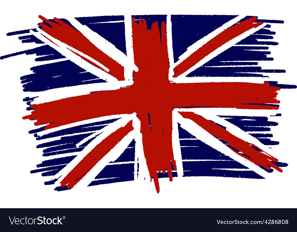 Flag of united kingdom uk great britain handmade vector | Price: 1 Credit (USD $1)