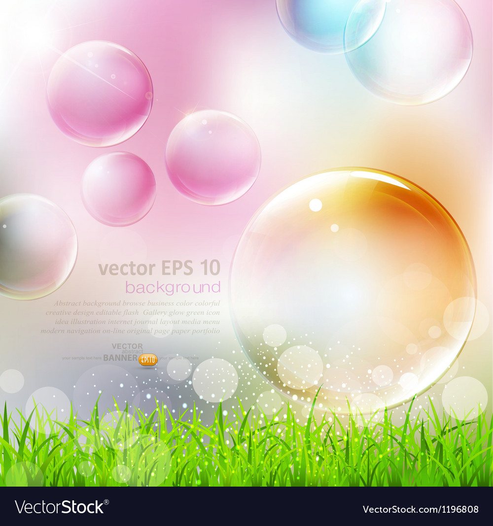 Flying colorful bubbles vector | Price: 1 Credit (USD $1)