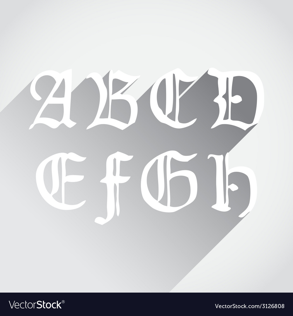 Ghotic letters vector | Price: 1 Credit (USD $1)