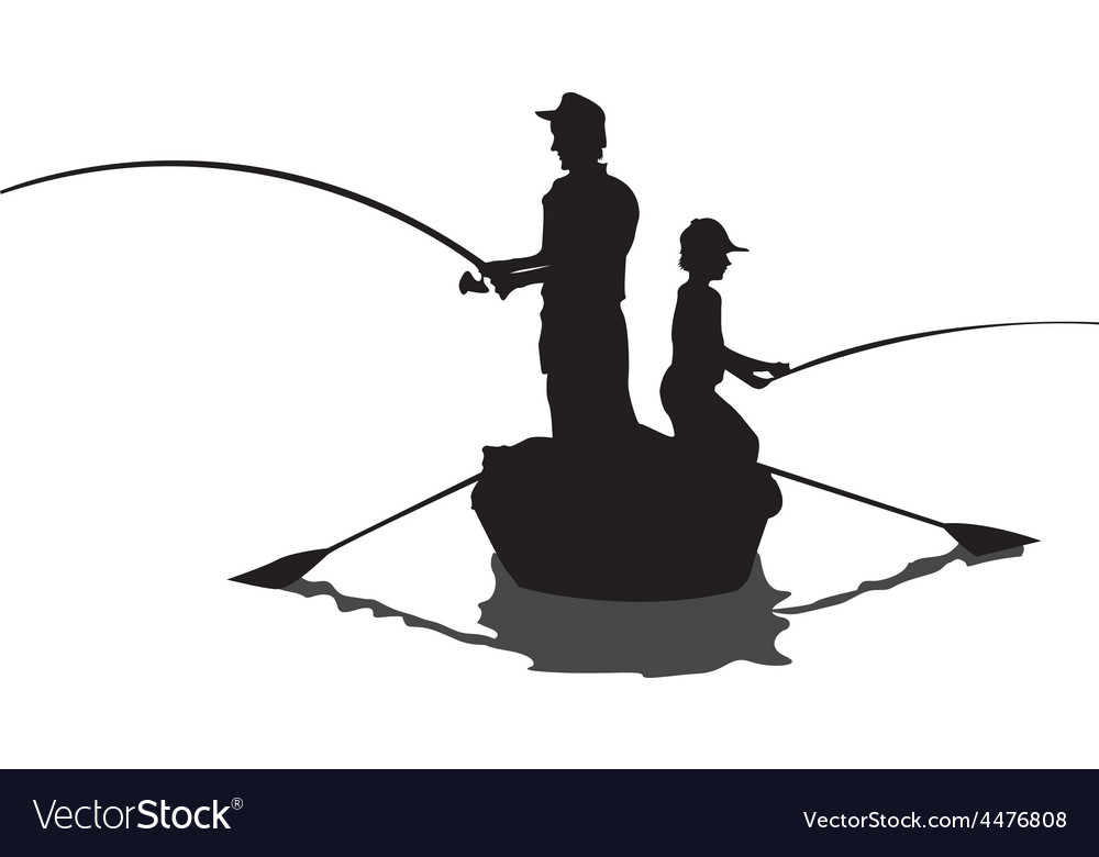 Men fishing cartoon vector | Price: 1 Credit (USD $1)