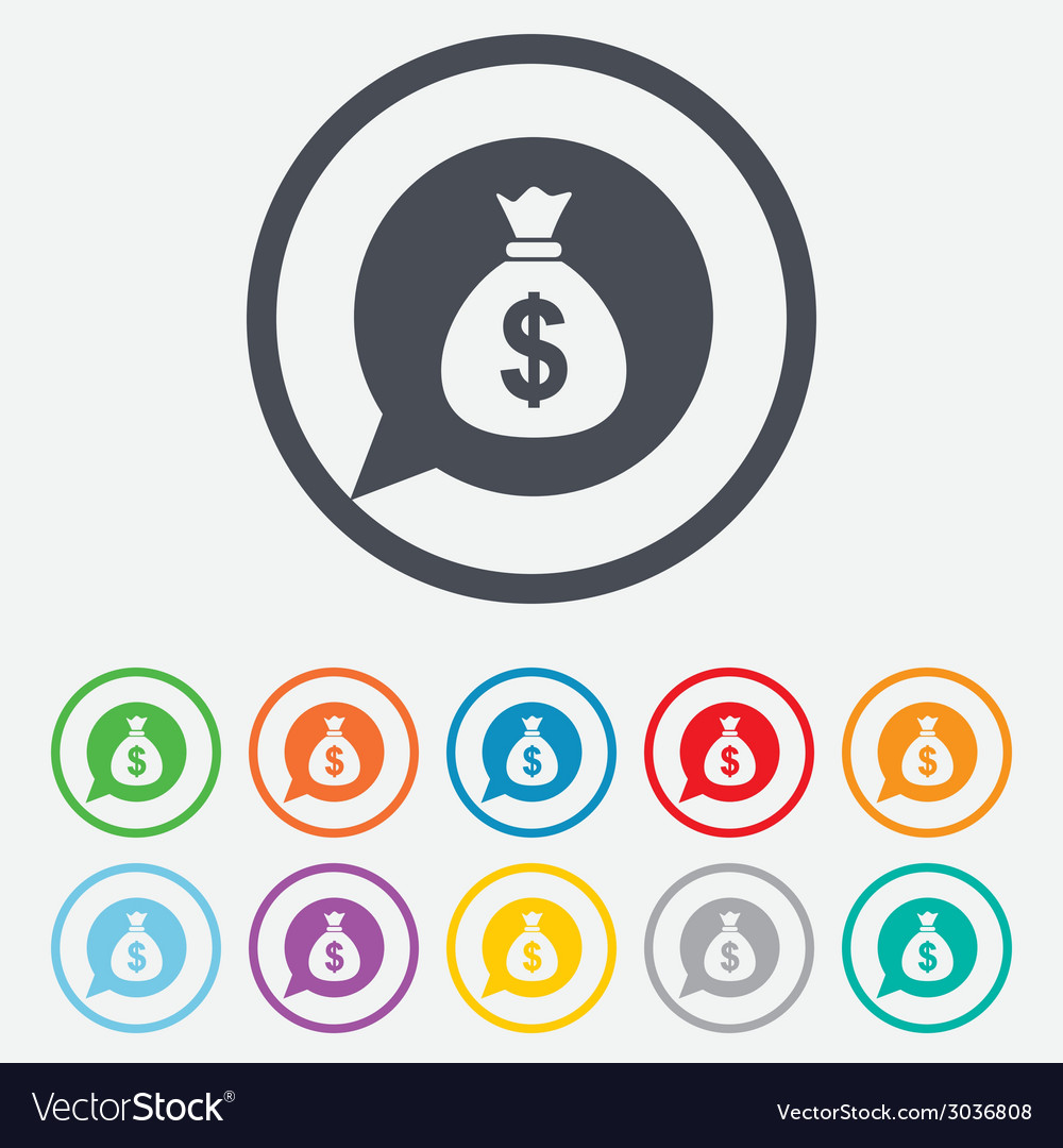 Money bag sign icon dollar usd currency vector   Price: 1 Credit (USD $1)