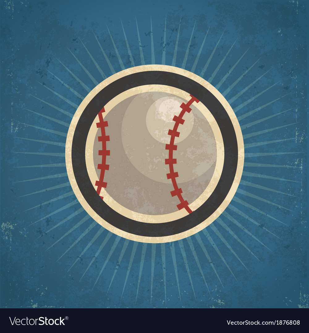 Retro baseball vector | Price: 1 Credit (USD $1)