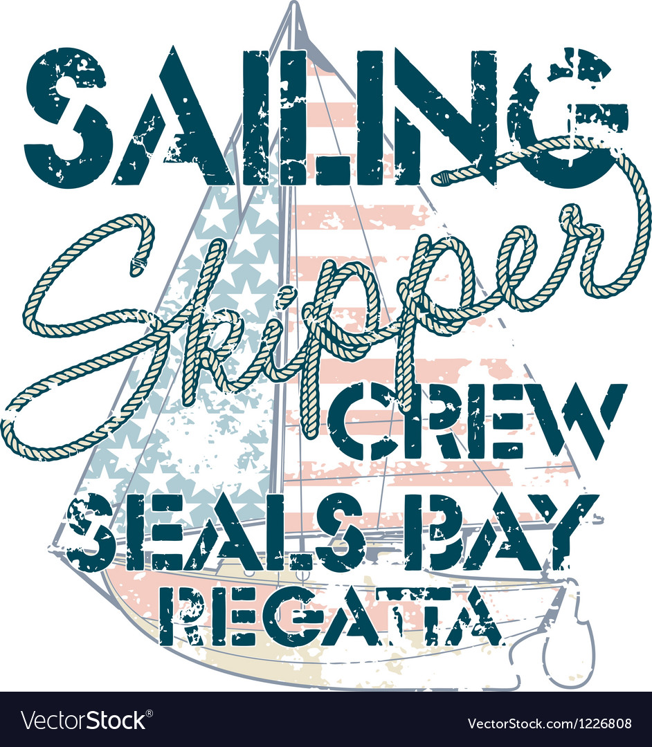 Sailing crew vector | Price: 1 Credit (USD $1)