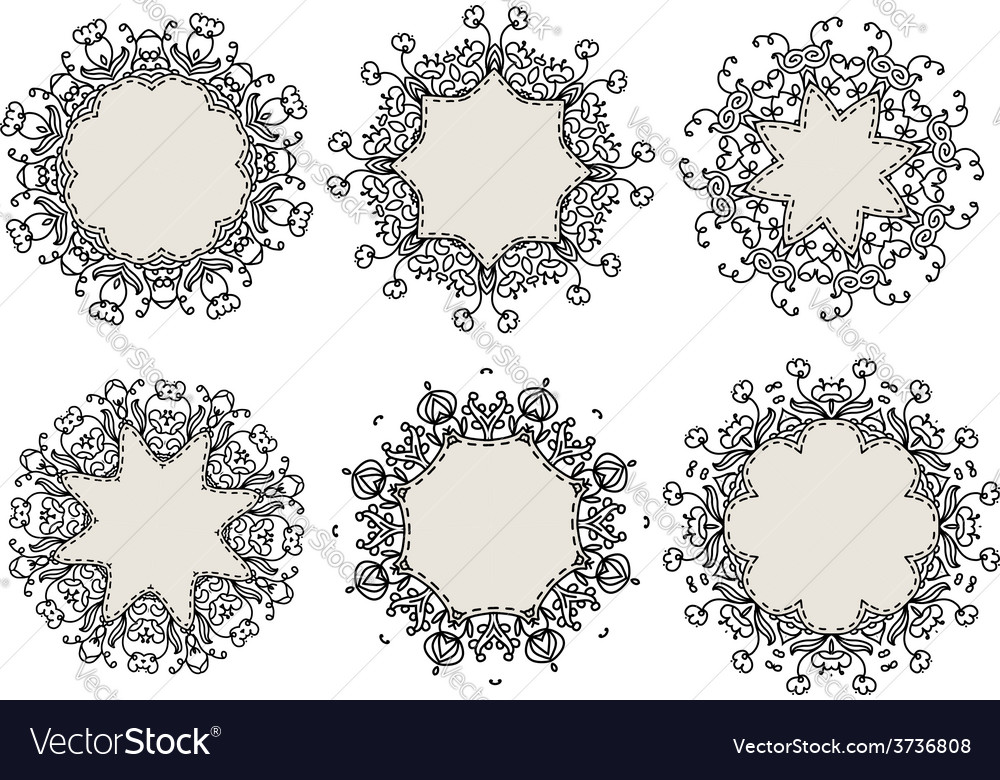 Set of ornamental frames for your design vector | Price: 1 Credit (USD $1)