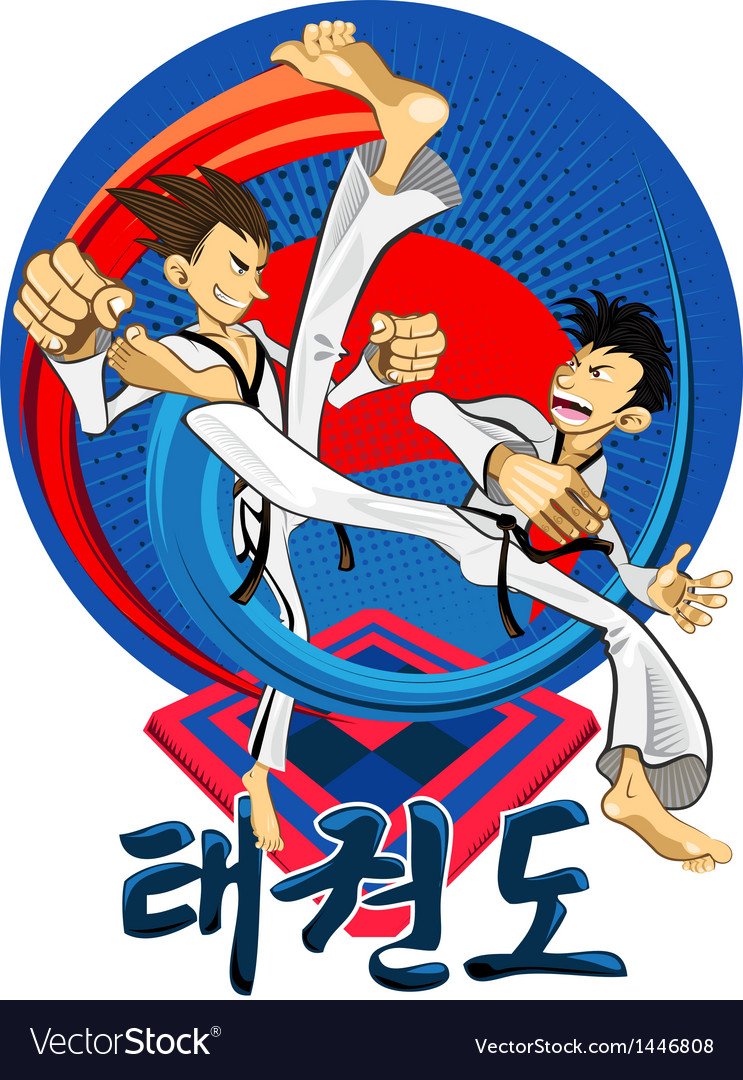 Taekwondo tae kwon do korean martial art vector | Price: 3 Credit (USD $3)