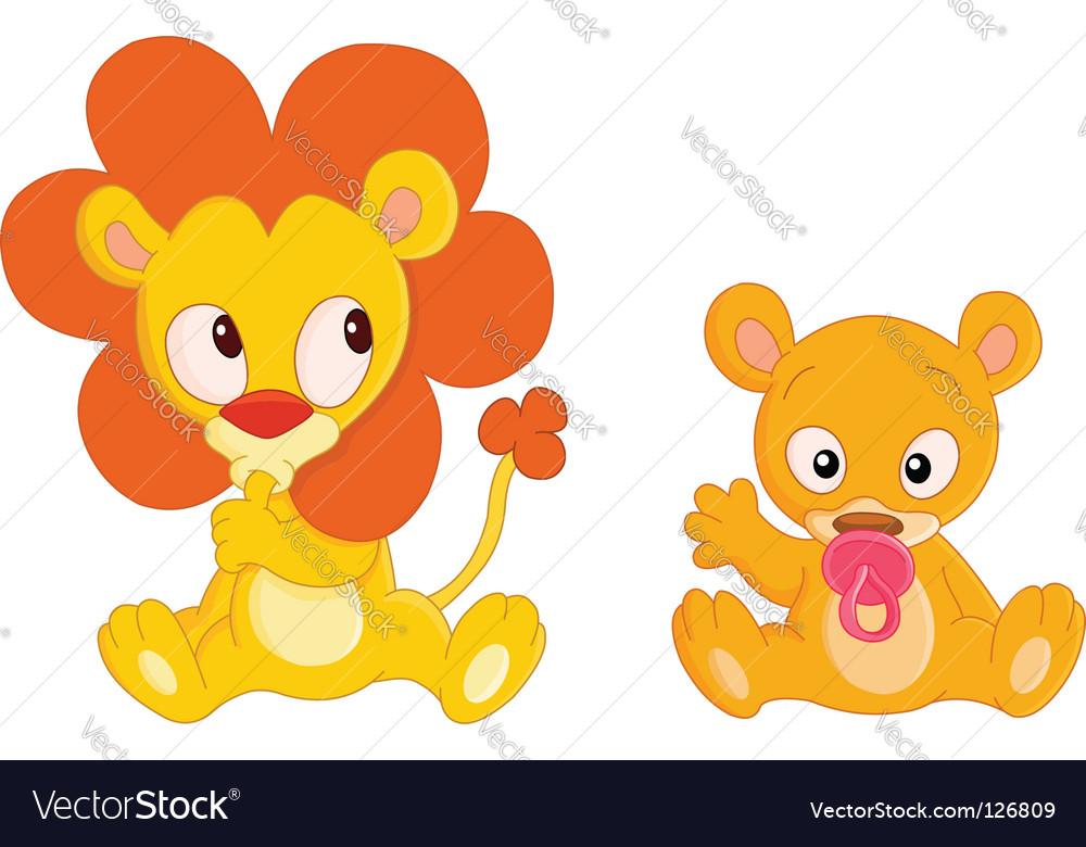 Baby animals vector | Price: 1 Credit (USD $1)