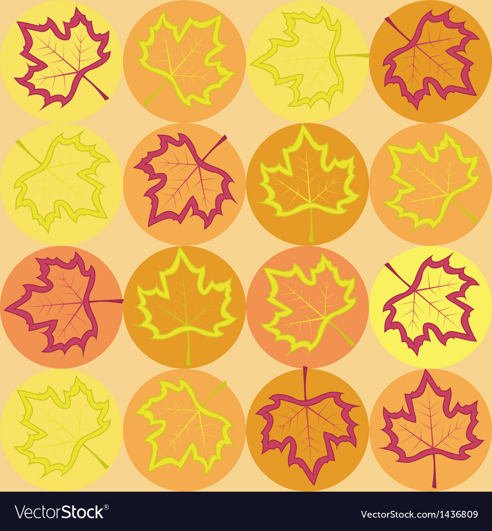 Geometry pattern with maple leaves vector | Price: 1 Credit (USD $1)