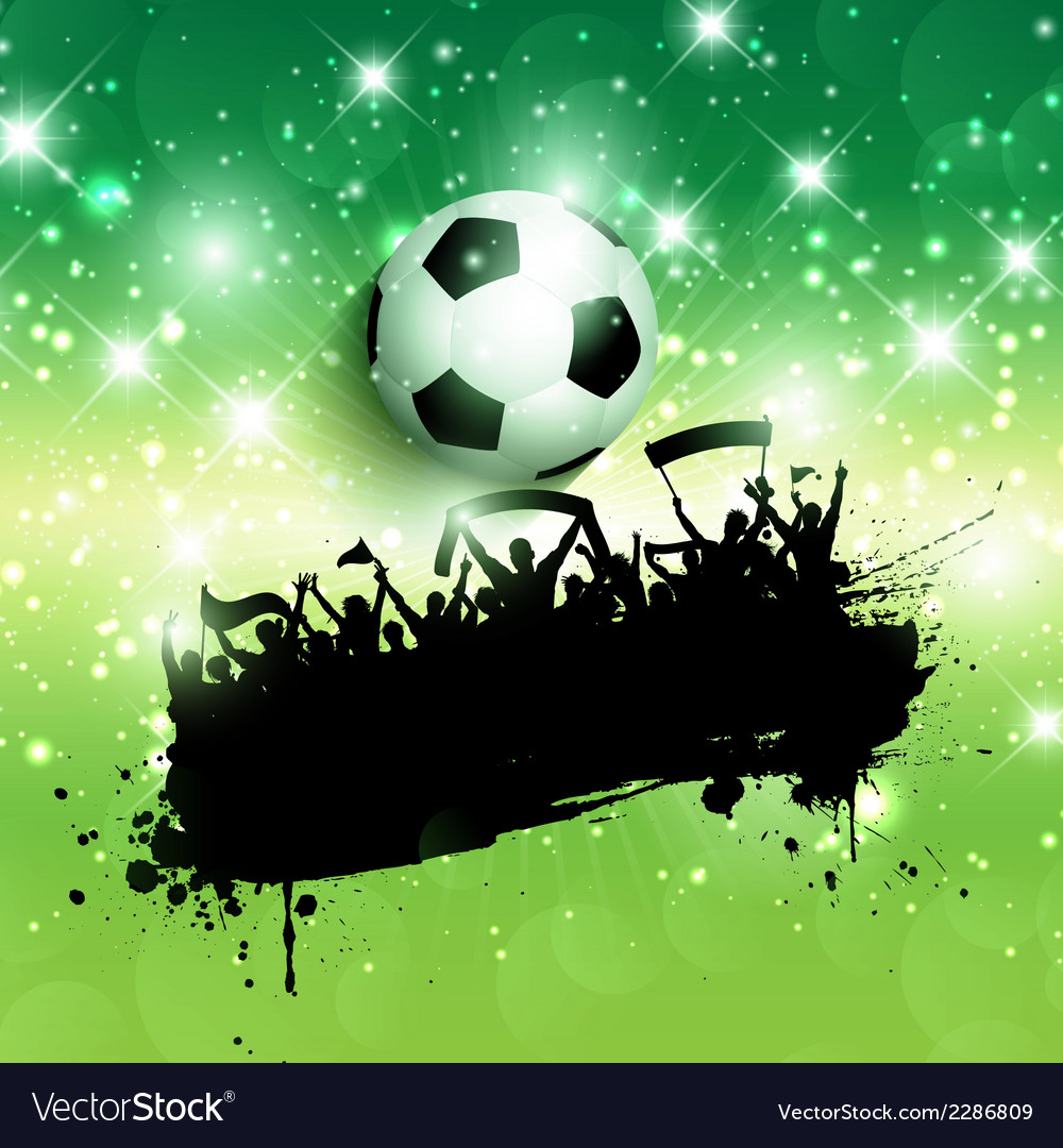 Grunge football or soccer crowd background vector | Price: 1 Credit (USD $1)