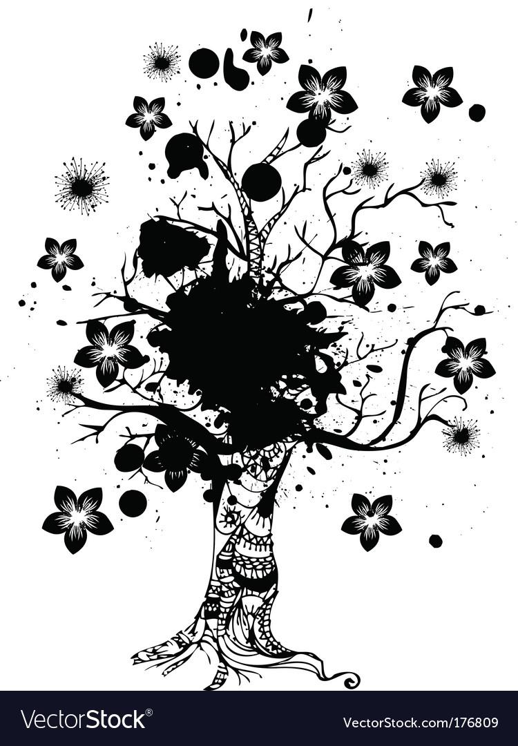 Grunge nature tree vector | Price: 1 Credit (USD $1)