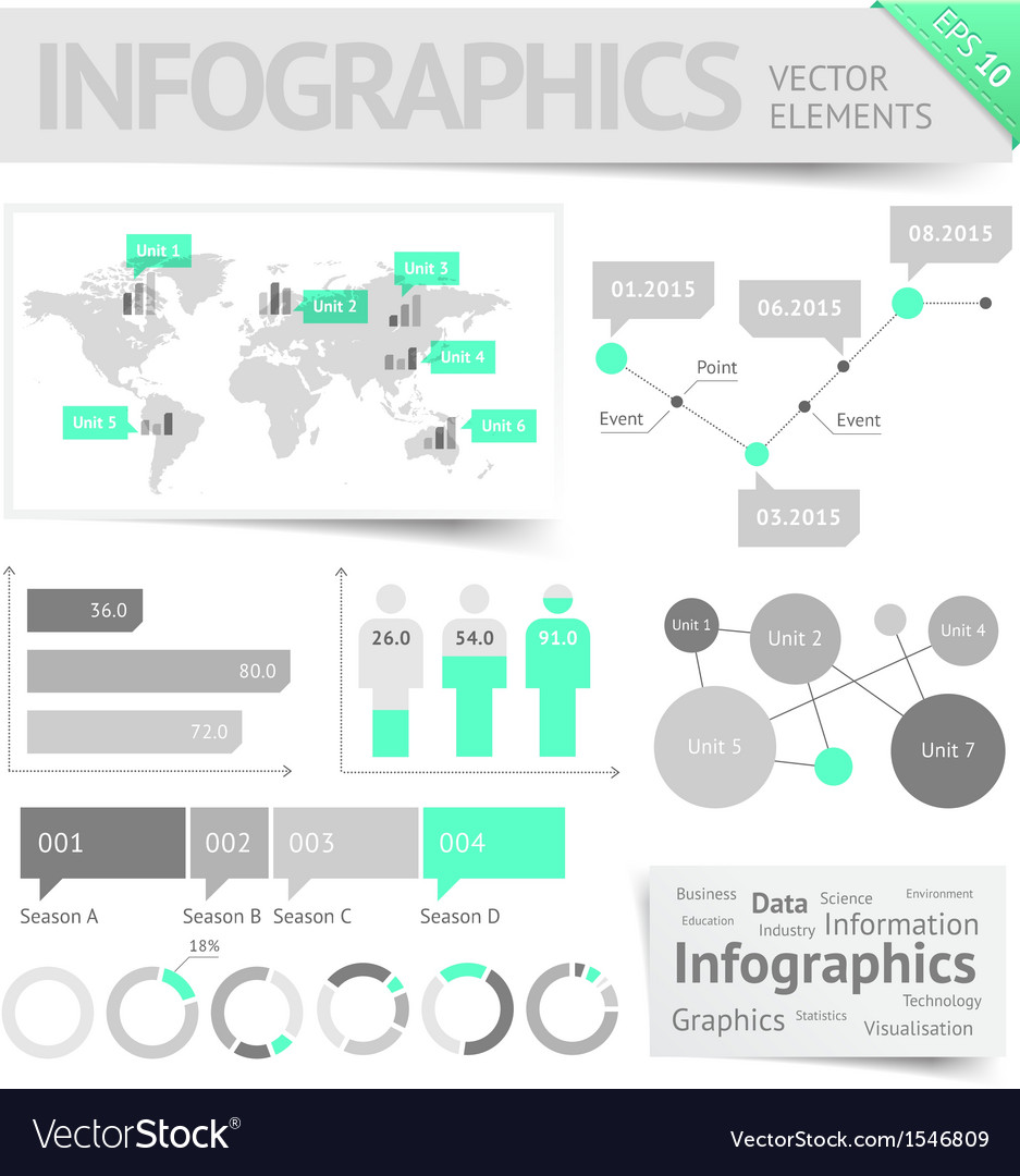 Infographic design elements vector | Price: 3 Credit (USD $3)