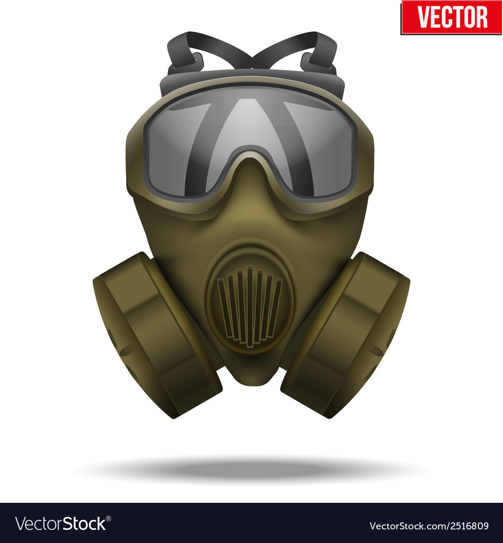 Khaki gas mask respirator vector | Price: 1 Credit (USD $1)
