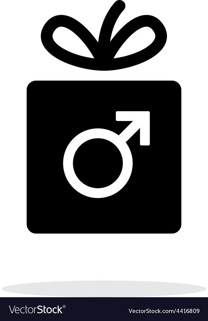 Male gift icon on white background vector | Price: 1 Credit (USD $1)