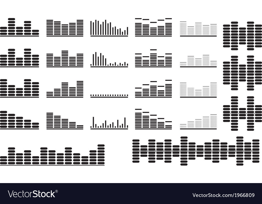 Music equalizer set vector | Price: 1 Credit (USD $1)