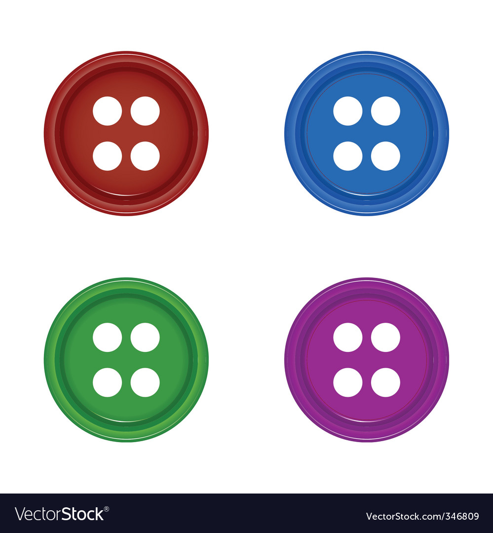 Shirt buttons vector | Price: 1 Credit (USD $1)