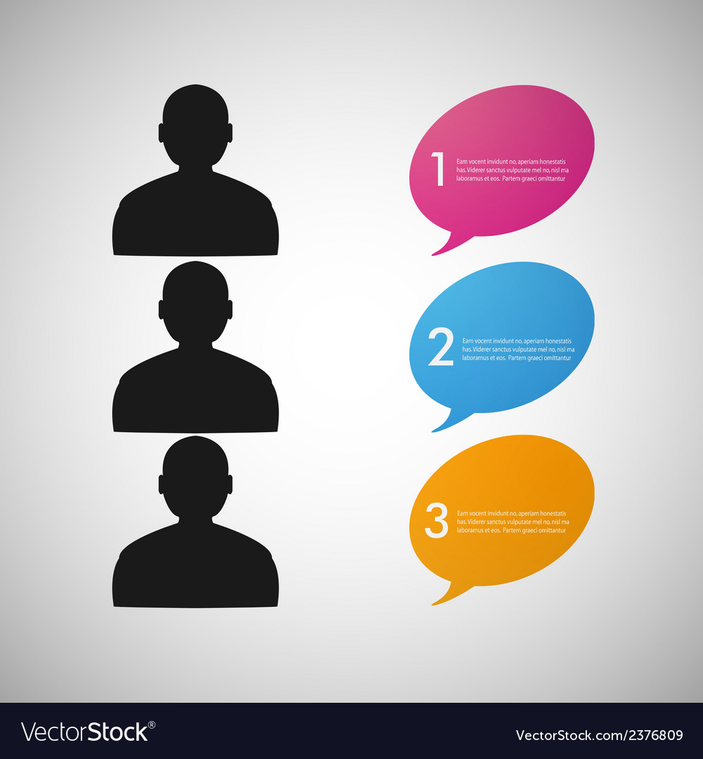 Speech dialog people eps vector | Price: 1 Credit (USD $1)
