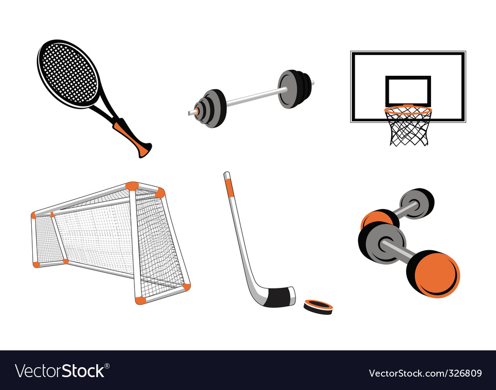 Sport elements vector | Price: 1 Credit (USD $1)