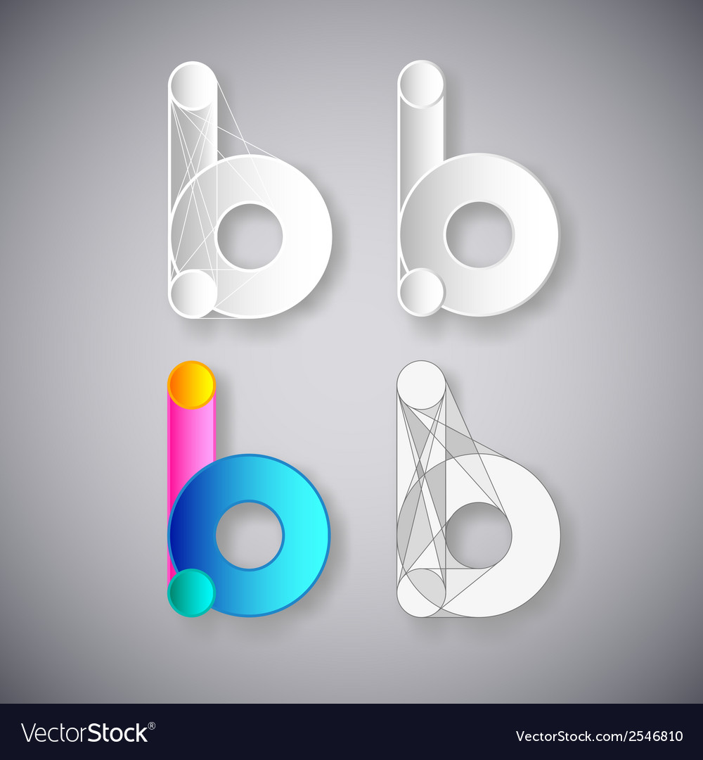 Abstract combination of letter b vector | Price: 1 Credit (USD $1)