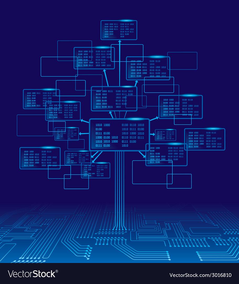 Binary tree vector | Price: 1 Credit (USD $1)